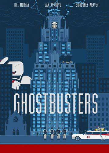 1980's Movie - GHOSTBUSTERS - MINIMALIST 1 canvas print - self adhesive poster - photo print